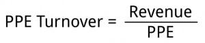 PPE Turnover Formula