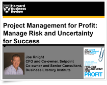 Project Management for Profit Webinar